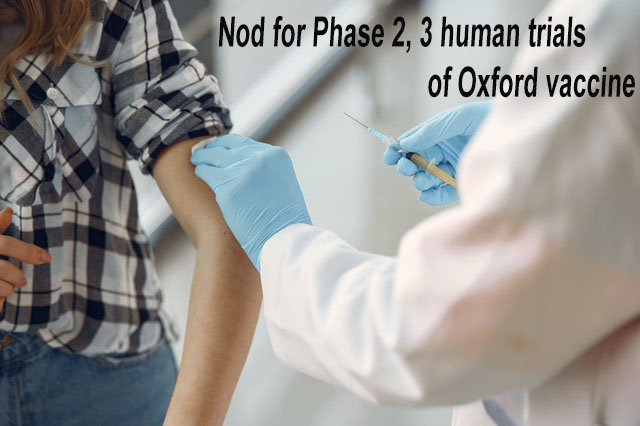 Nod for phase 2, 3 human trials of Oxford vaccine candidate in India